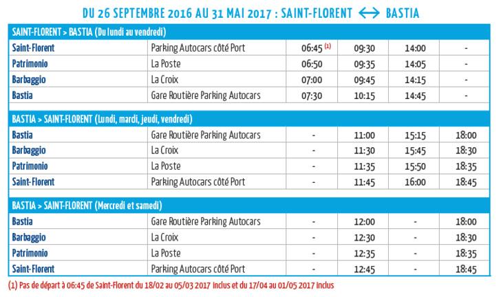 Horaires Hiver Ligne Saint Florent Bastia modifiés : téléchargez la dernière version !