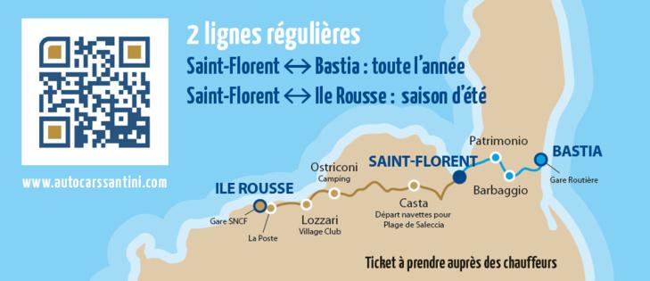 Horaires Ligne Saint Florent Bastia - Saint Florent Ile Rousse 2017 : téléchargez le flyer