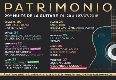 Navettes Festival Nuits de la Guitare Patrimonio 2017 : horaires