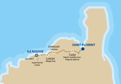 Saint Florent - Ile Rousse : la ligne de bus reprend du 13 juin au 18 septembre 2016