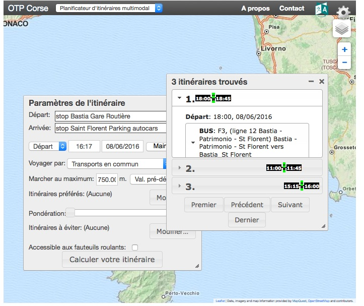 Utilisez le calculateur de trajets pour se déplacer en Corse sans sa voiture !