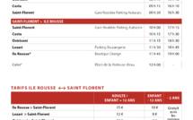 Saint Florent - Ile Rousse : ligne de bus assurée l'été
